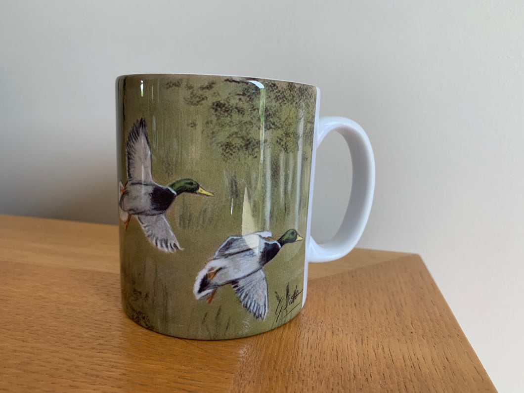 Flying Mallard Ducks Mug