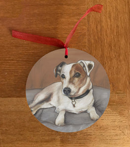Jack Russell Christmas Hanging Decoration