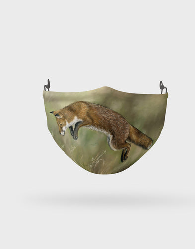 Leaping Fox Face Mask