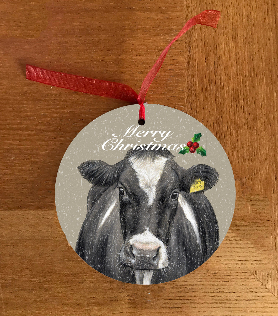 Friesian Cow Hanging Decoration