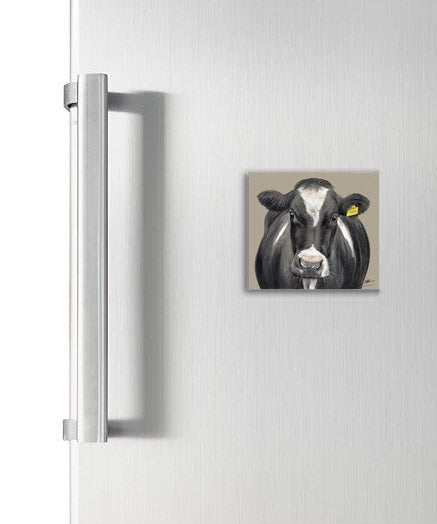 Friesian Cow Square Magnet