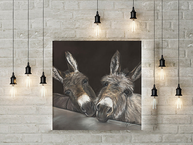 Donkeys Over Gate Limited Edition Canvas Print