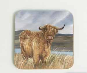 New Highland Cow Coaster