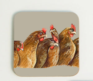 New Hens in Row Coaster
