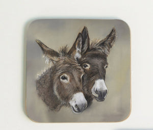 Pair of Donkeys Coaster