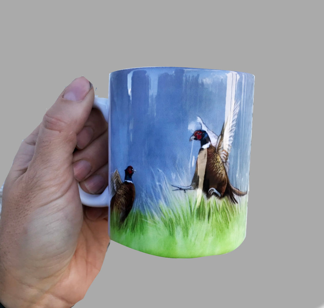 Single Pheasant Flying Mug