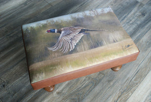 Pheasant Flying Footstool