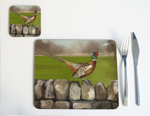 Pheasant on Wall Placemat