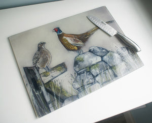 Hen And Cock Pheasant Worktop Saver