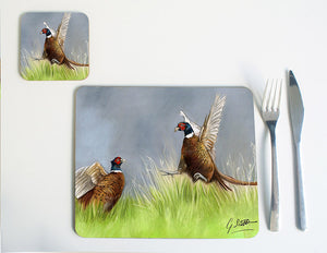 Pheasants Fighting Placemat