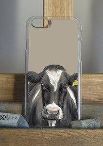 Friesian Cow With Tag Phone Case