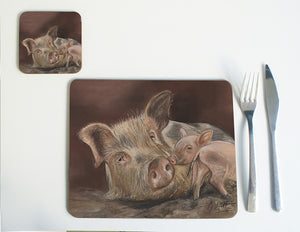 Pig and Piglet Placemat