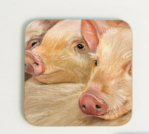 Trio of Pigs Coaster