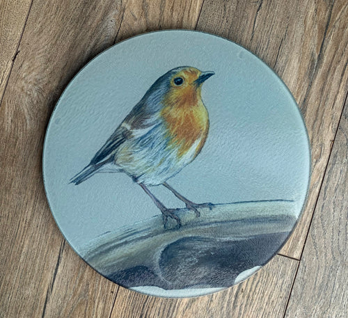 Robin On Spade Round Worktop Saver