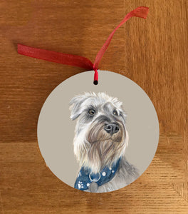 Schnauzer Hanging Decoration