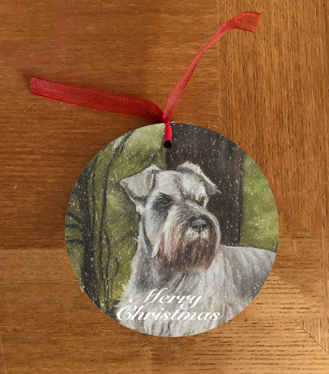 Schnauzers Head Christmas Hanging Decoration