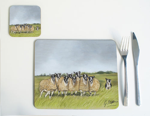 Collie and Sheep Placemat