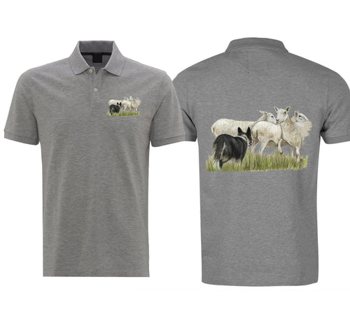 Sheep and Collie Mens Polo Shirt