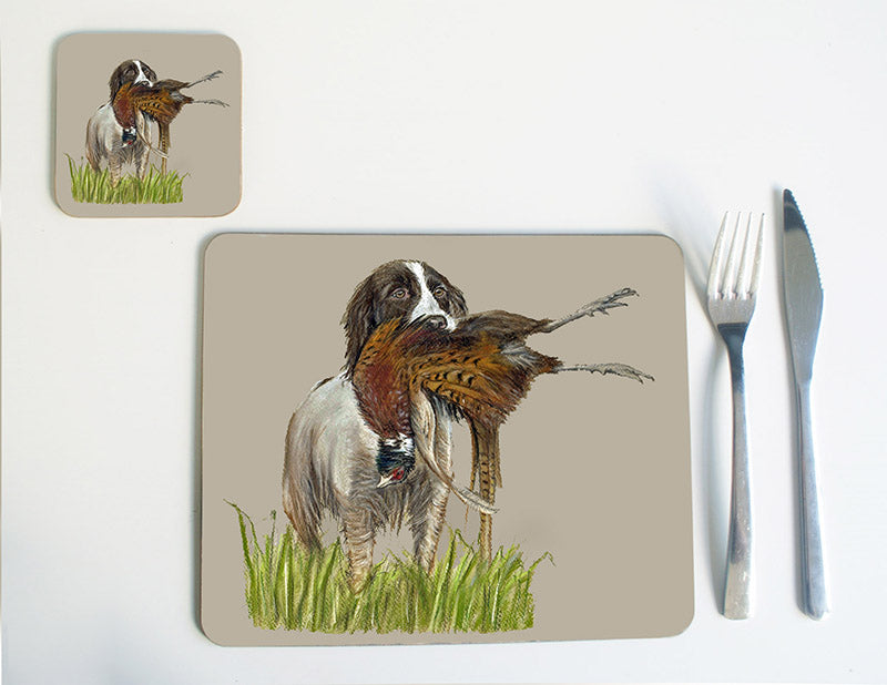 Spaniel with Pheasant Placemat