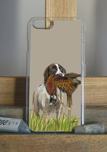 Spaniel With Pheasant Phone Case