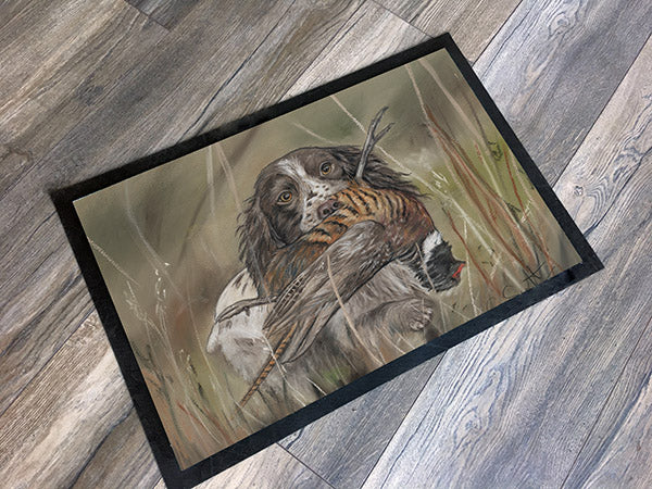 Spaniel with pheasant hunting scene huntsman gift countrysport gift Grace Scott