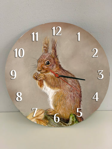 Red Squirrel Clock