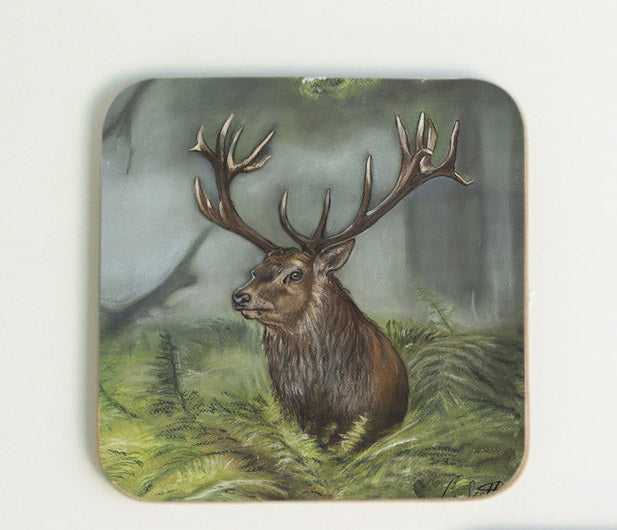 Stag in Grass Coaster