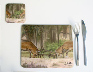 Stags Fighting Placemat