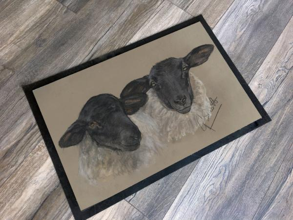Suffolk Sheep Floor Mat