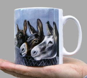 Trio of Donkeys Mug