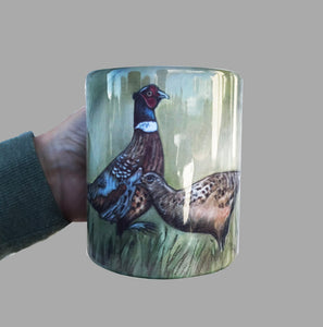 Hen And Cock Pheasant Mug