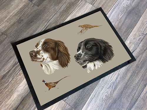 Spaniels And Pheasants Floor Mat