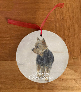 Yorkshire Terrier Christmas Hanging Decoration