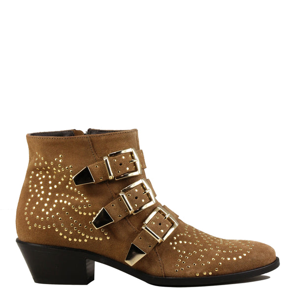 Boots rock Lemare 0351 Velour Sigaro + Gold