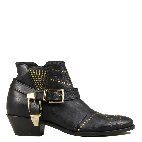 Lemare 1696 Black Leather + Gold