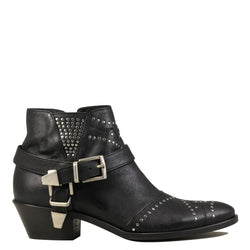 Boots rock Lemare 1696 Black Leather + Silver