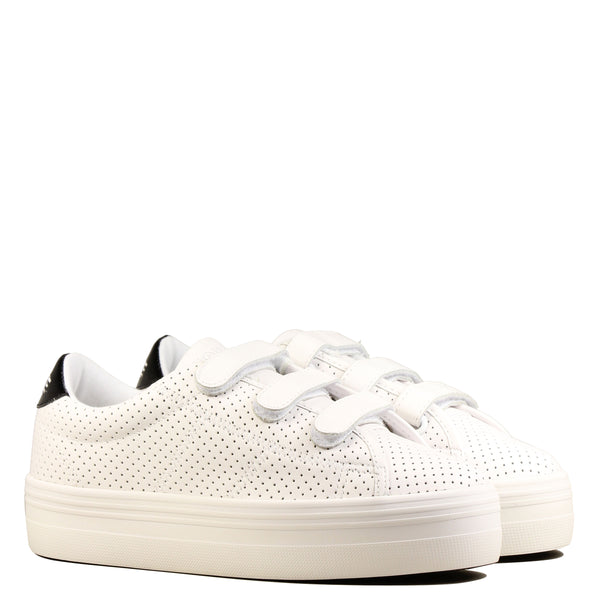 Sneakers No Name Plato Straps Punch Nappa White