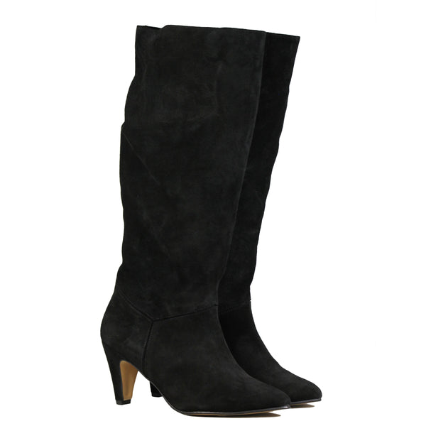 Anonymous Jasmina 75 Stiletto Suede Black