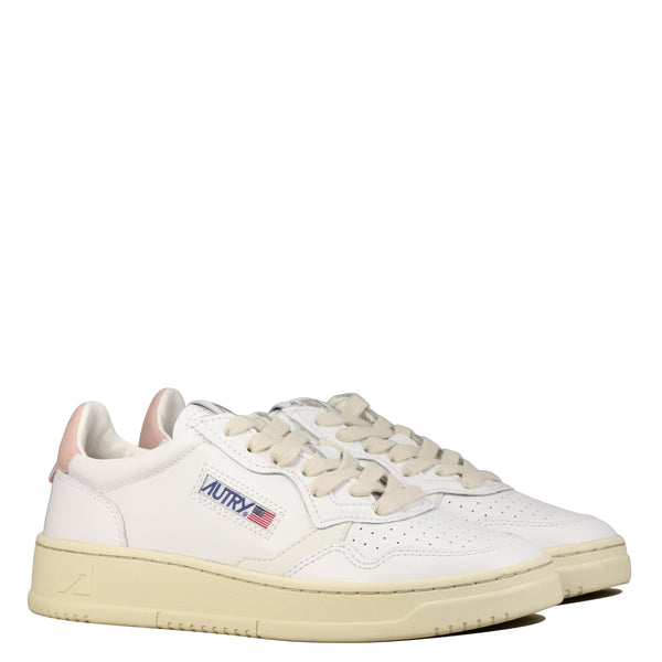 Autry Action Shoes 01 Low W Leather White Pink