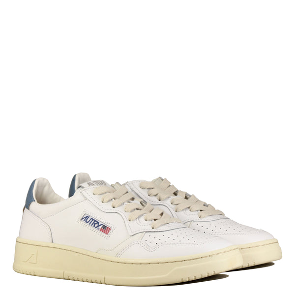 01 Low W Leather White Navy