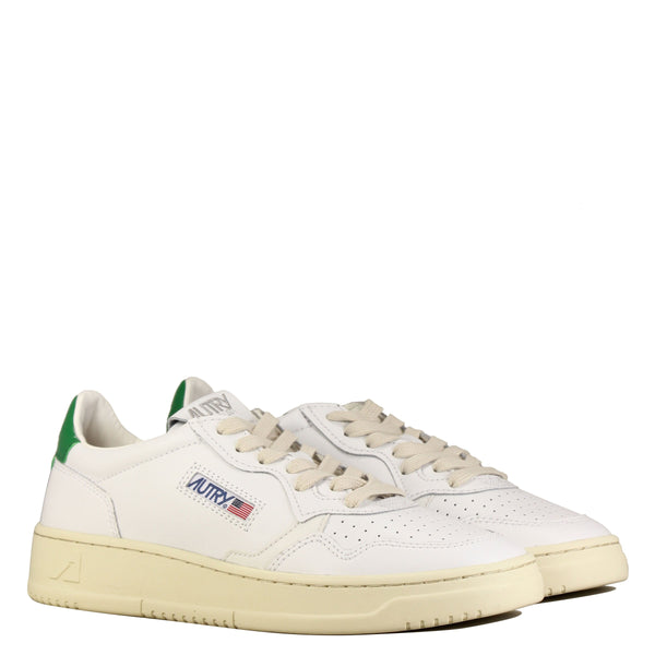 Autry Action Shoes 01 Low M Leather White Green