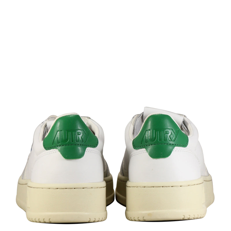 Autry Action Shoes 01 Low W Leather White Green