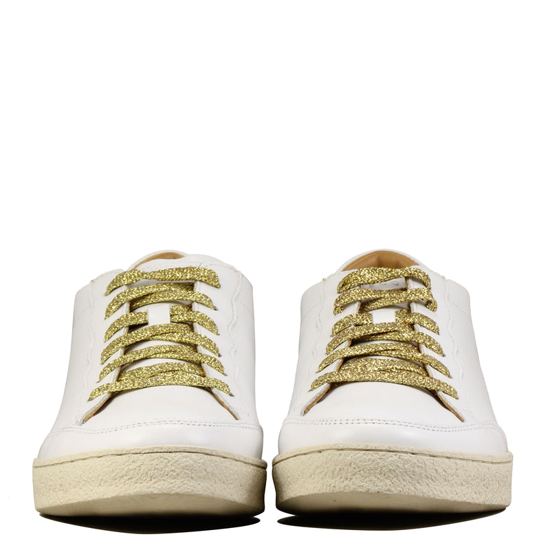 Rivecour 14 Blanc Lacets Gold