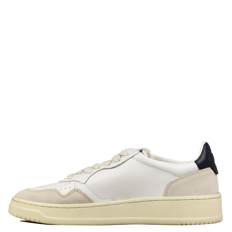 Autry 01 Low Leather Suede White Navy