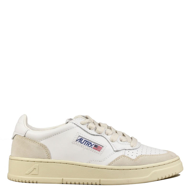 Autry Action Shoes 01 Low Leather Suede White