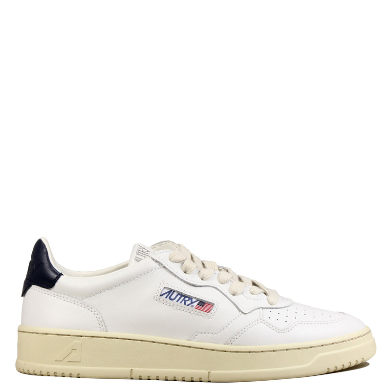 Autry 01 Low Leather White Navy