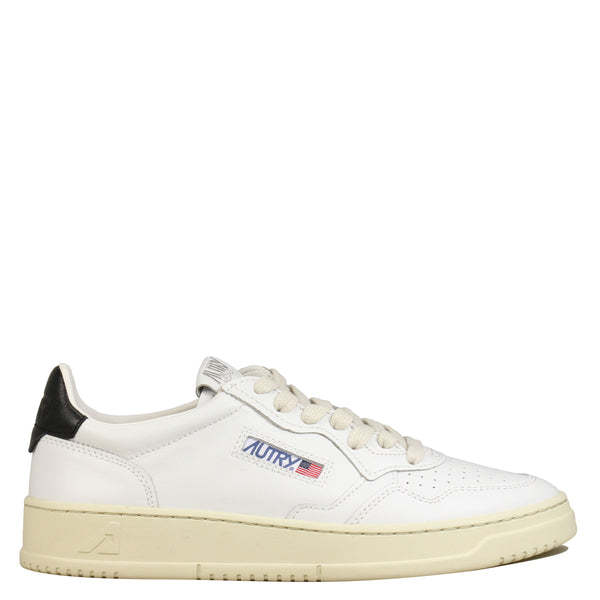 Autry 01 Low Leather White Black