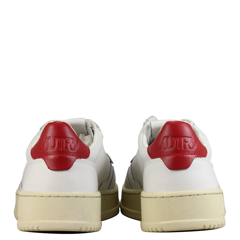 Autry Action Shoes 01 Leather White Red