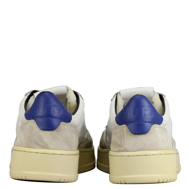 Autry Action Shoes 01 Low Leather Suede Blue Navy Stone
