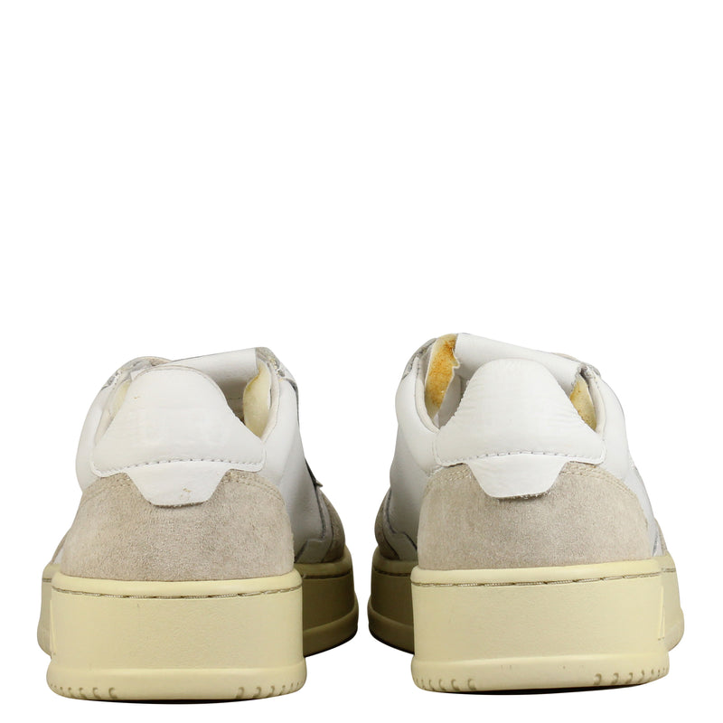 Autry Action Shoes 01 Low Leather Suede White Stone W